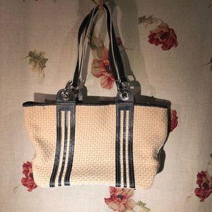 Maxx New York black and cream weaved bag